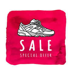 sneaker sale special offer poster or banner vector image