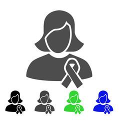 Solidarity tie flat icon vector