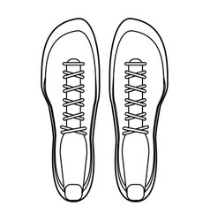 sport shoes footwear black and white vector image