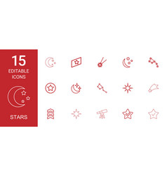 Stars icons vector