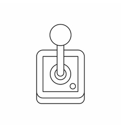 Stick shift transmission icon outline style vector