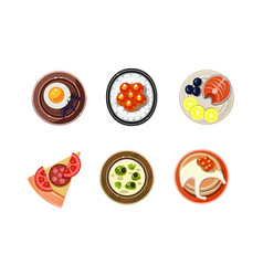 tasty dishesi from different countries of the vector image
