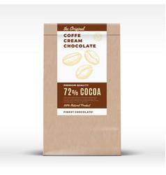 the original coffee cream chocolate craft paper vector image