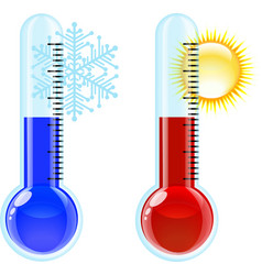 Thermometer Hot and Cold icon vector