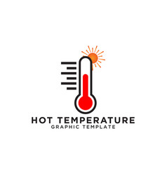 thermometer logo design template vector image