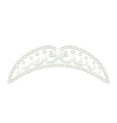 tiara princess shiny royal luxury accessory vector image