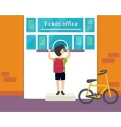 Ticket office vector image