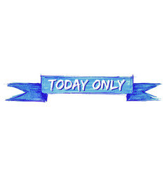 Today only ribbon vector