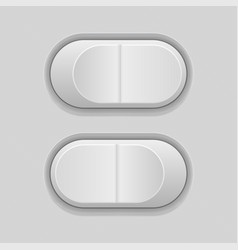 Toggle switch buttons gray ui elements vector