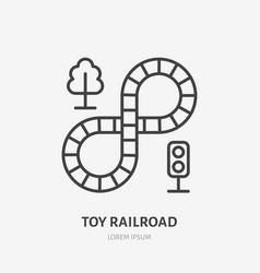 Toy railroad line icon railroad flat logo vector