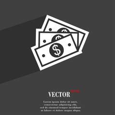 Us dollar icon symbol Flat modern web design with vector image