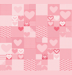 valentine hearts seamless pattern vector image