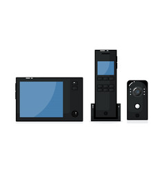 Video intercom with outdoor panel phone and vector