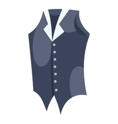Waistcoat icon cartoon style vector