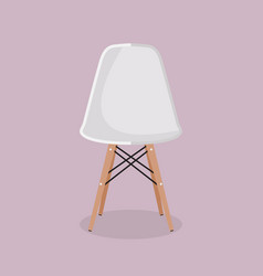 white designer chair vector image
