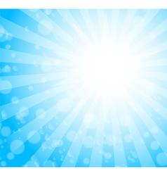 blue burst background vector image vector image