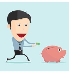 cartoon and money in flat design vector image vector image