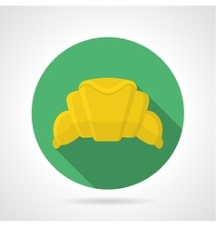 Flat color icon for croissant vector image