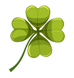 green leaf clover icon cartoon style vector image vector image