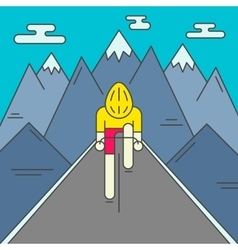 Modern of cyclist on the road vector image