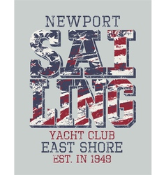 Newport sailing club vector image