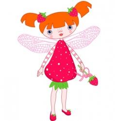strawberry fairy vector image