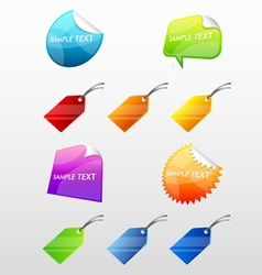 Colorful Web Stickers Tags and Labels Collection vector image