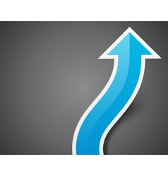 Graph arrow move up background eps vector