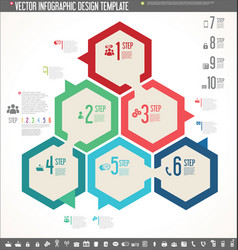 infographic design template colorful design 5 vector image vector image