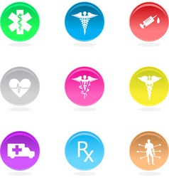 medical circular icons vector image