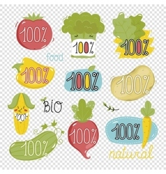 Organic labels and elements vector image vector image