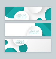 clean business style banners set of three template vector image vector image