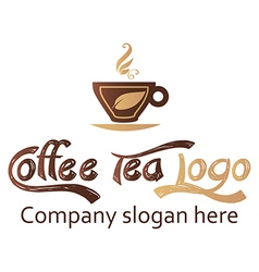 Coffee and tea logo design vector image