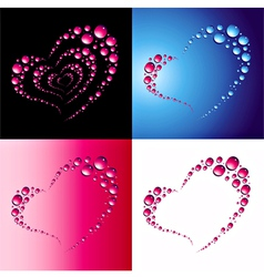 heart bubbles vector image vector image
