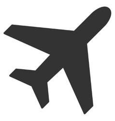 Plane Flat Icon vector image vector image