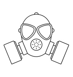respirator icon outline style vector image vector image