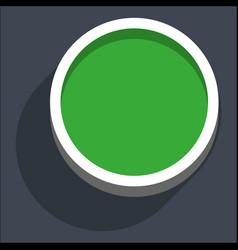 3d flat blank circle web internet button vector image