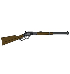 Classic wild west rifle vector