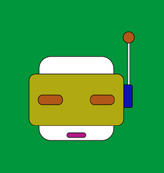flat icon design collection toy robot face vector image vector image