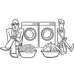 money laundering cartoon vector image vector image
