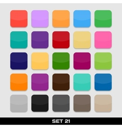 Set Of Colorful App Icon Templates Frames vector image vector image
