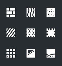 Set of flooring icons vector