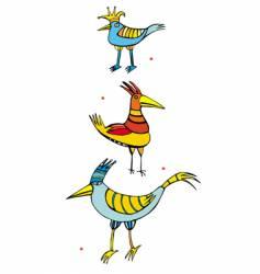 three birds vector image vector image