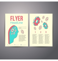 Abstract Brochure Flyer design Human head with vector image