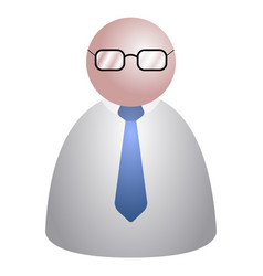 Abstract businessman icon vector
