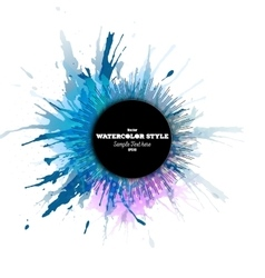 Abstract circle black banner with place for text vector image