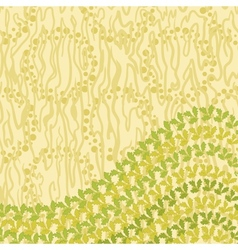 Abstract pattern and leaves vector