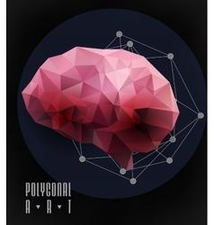 Abstract polygonal brain vector