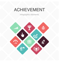 Achievement infographic 10 option color design vector