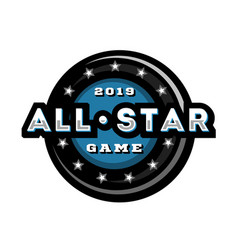 all star game template logo design vector image